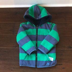 Mini Boden reversible fleece hoody size 3-4Y